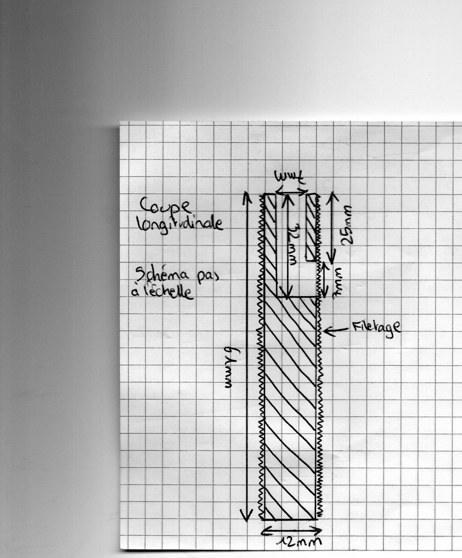 r alisation tige filet e creuse sur mesure. Black Bedroom Furniture Sets. Home Design Ideas
