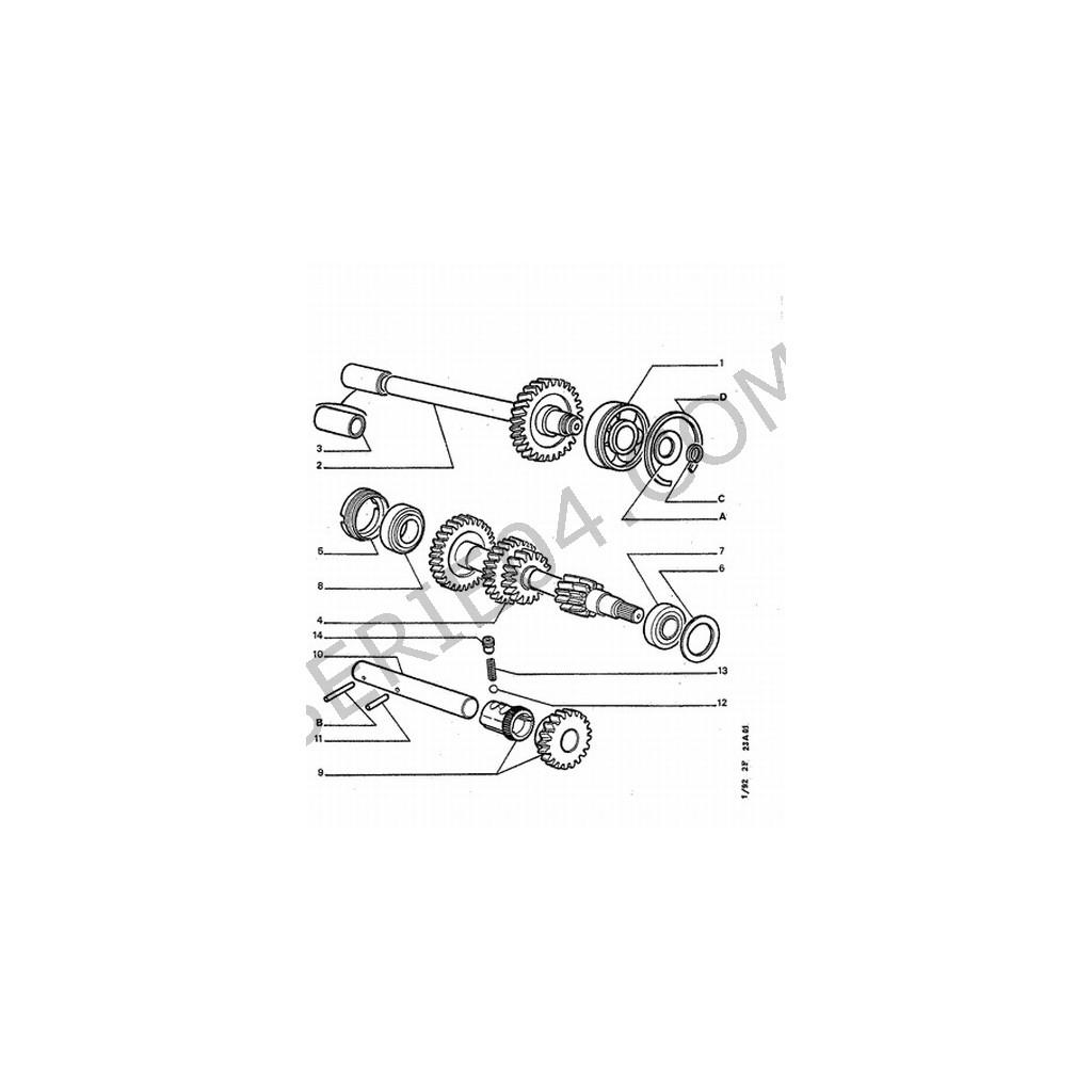 douille cannel u00e9e transmission boite de vitesse peugeot 205