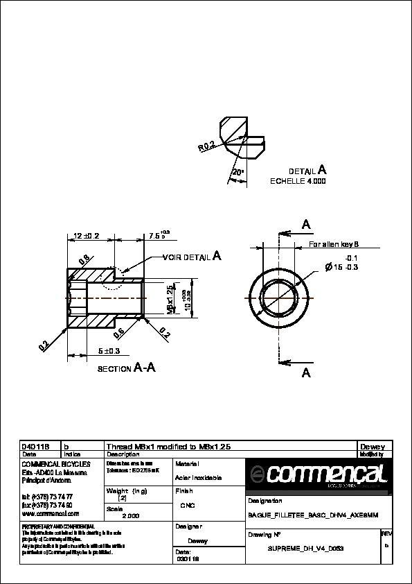 Prototyping rings axle Ø8mm rocker