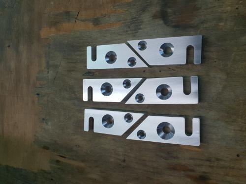 pièces en alu support de roue trot. de descente