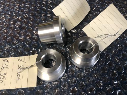 3 entretoises aluminium pour roue moto ducati