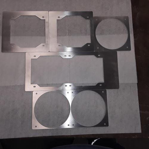 5 supports de ventilateurs carbone ou aluminium