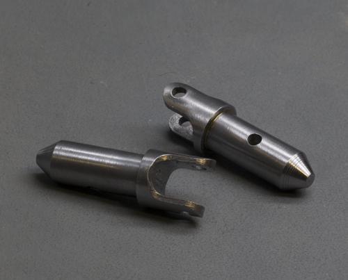 2 pièces de liaison rotule en acier pour mécanisme d'enroulement de volets roulants