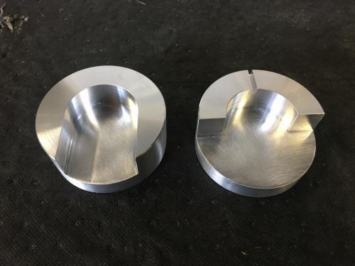 2 pièces en aluminium