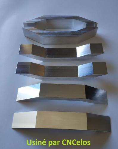 6 Pièces en aluminium